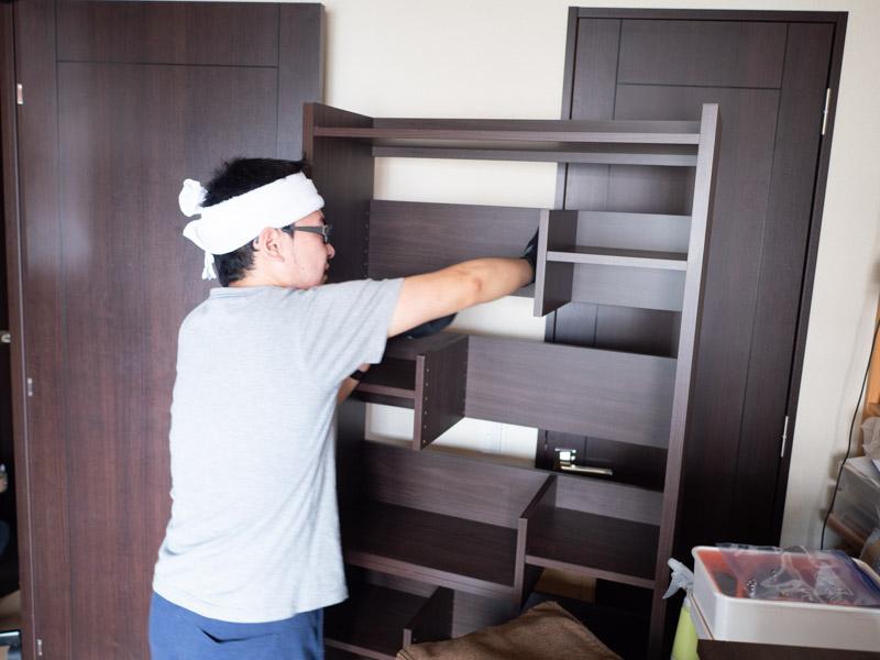 ニトリの本棚を分解・運搬
