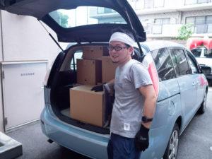 引越しの荷物を車に積み込め終わった