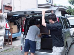 運搬した荷物の荷下ろし